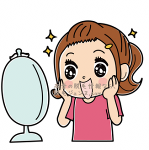 顔全体や口周りのムダ毛がなくなると、化粧ノリがよくなりますし、お肌もワントーン明るくなりますよ。