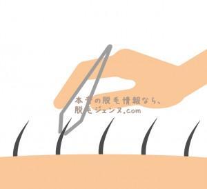 毛抜きの正しい処理法は毛の方向に従う事
