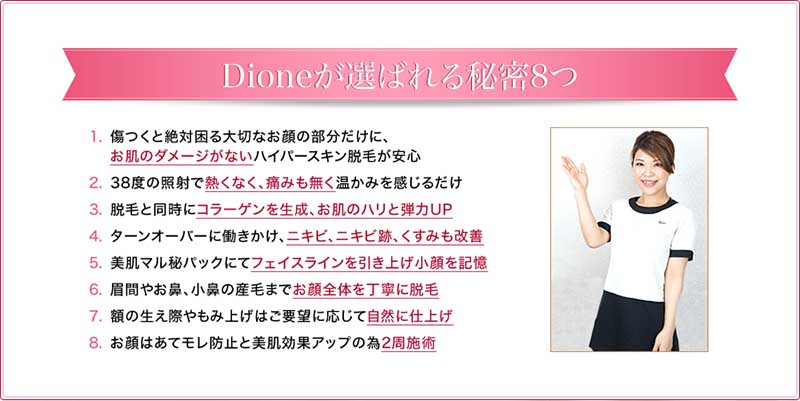 dioneが選ばれる秘密8つ(公式ページ)