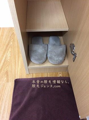 キレイモあべの店の靴箱