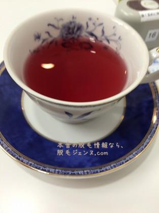 キレイモあべの店で提供されるお茶