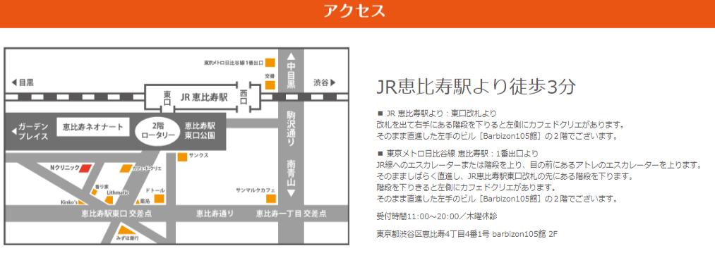 NクリニックはJR恵比寿駅徒歩3分